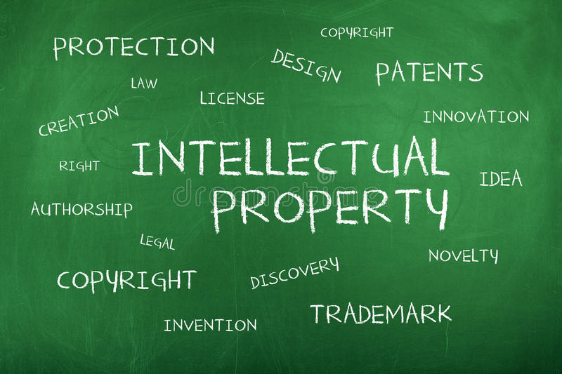 Intellectual Property Background Concept royalty free stock images