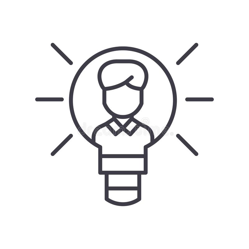 Intellectual property black icon concept. Intellectual property flat vector symbol, sign, illustration. Intellectual property black icon concept. Intellectual royalty free illustration