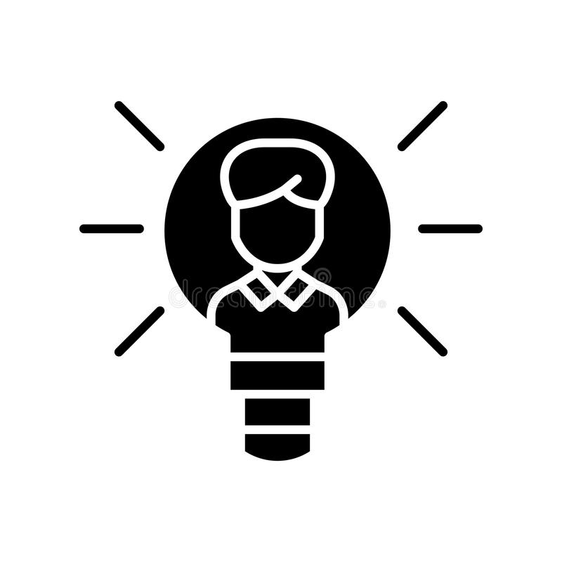 Intellectual property black icon concept. Intellectual property flat vector symbol, sign, illustration. Intellectual property black icon concept. Intellectual vector illustration