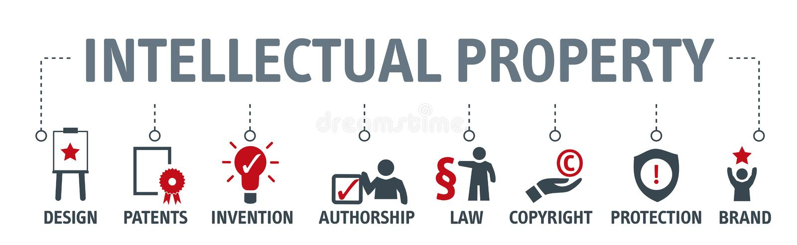 Intellectual Property concept vector illustration stock illustration