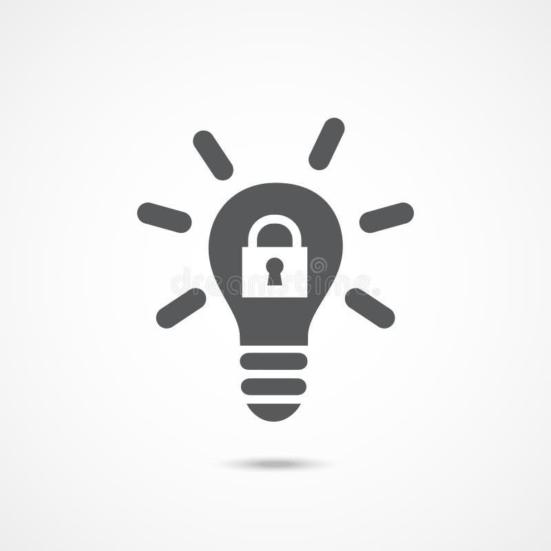 Intellectual property icon. On white background stock illustration