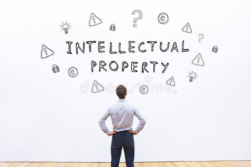 Intellectual property. In business, concept royalty free stock photo