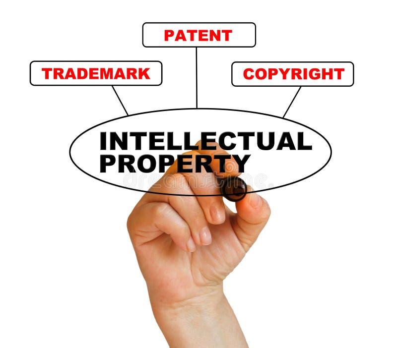 Intellectual property. Presentation of protection of intellectual property royalty free illustration