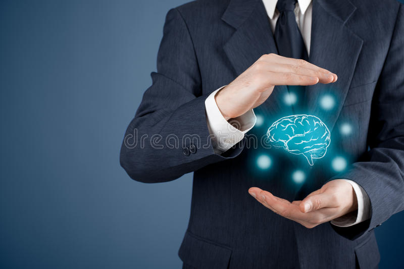Intellectual property protection. Law and rights, copyright and patents concept. Protect business ideas and headhunter concepts royalty free stock image
