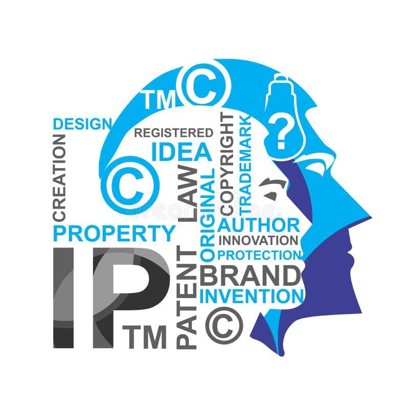 Intellectuele eigendom vector illustratie