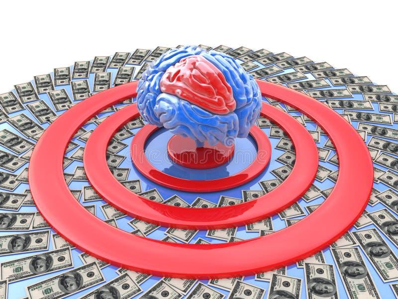 Intellektuell-Finanzziel stock abbildung