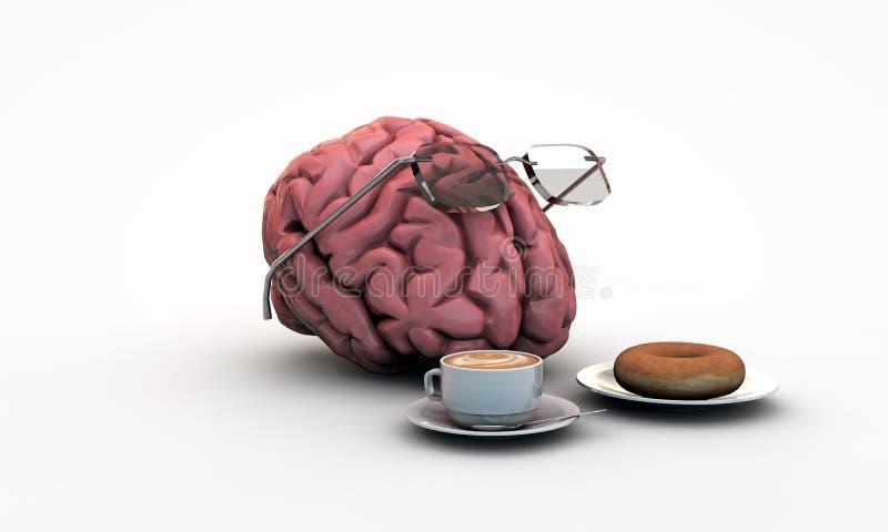 Intellektuell hjärna vektor illustrationer