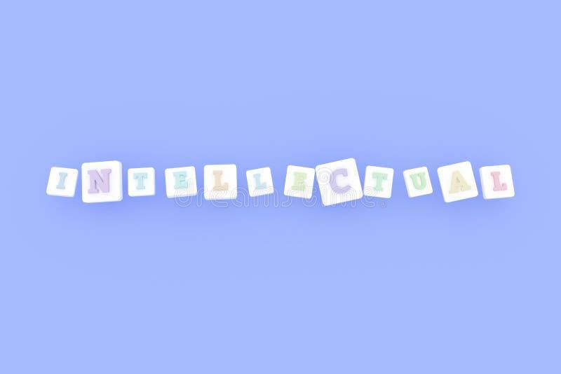 Intellektuell, IuK-Schlüsselwort F?r Webseite, Grafikdesign, Beschaffenheit oder Hintergrund lizenzfreie abbildung