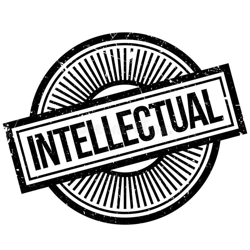 Intellektuell rubber stämpel royaltyfri illustrationer