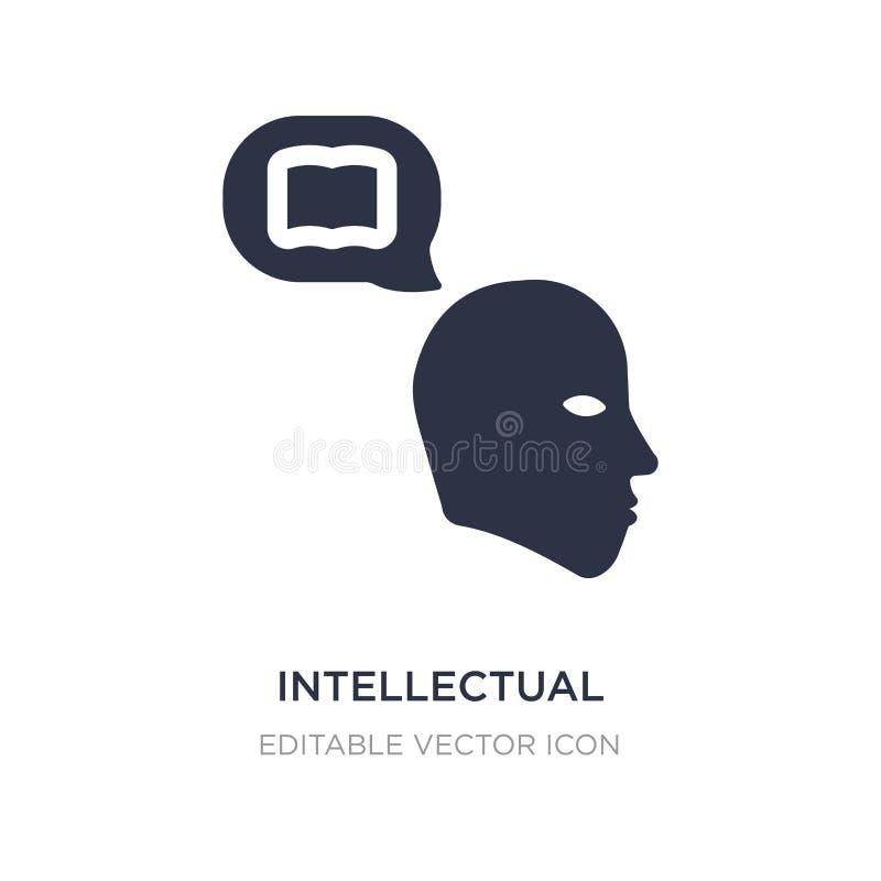 intellektuell symbol på vit bakgrund Enkel beståndsdelillustration från utbildningsbegrepp royaltyfri illustrationer