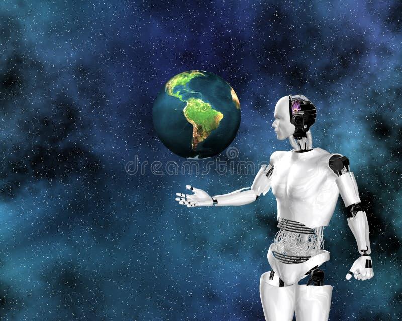 Intelligence androïde et cybernétique illustration libre de droits
