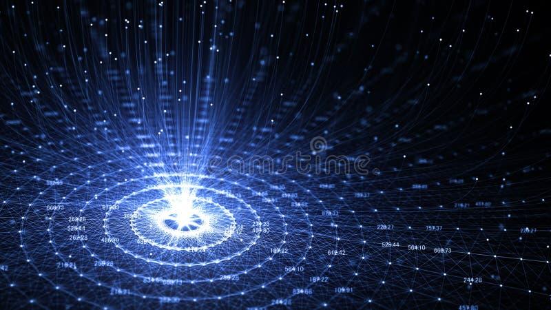 Intelligence artificielle AI de technologie et Internet de concept des choses IOT illustration de vecteur