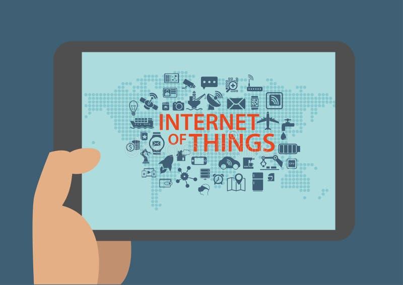 Intelligence artificielle et concept de étude profond dans les réseaux sociaux et mobiles illustration libre de droits