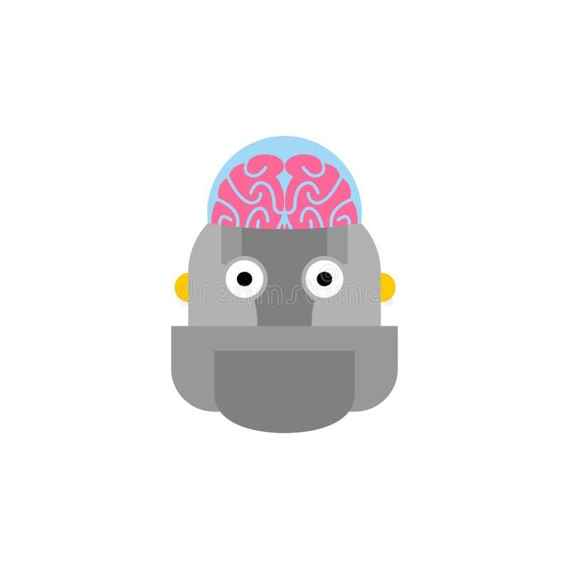 Intelligence artificielle Robot et cerveau Tête de cyborg