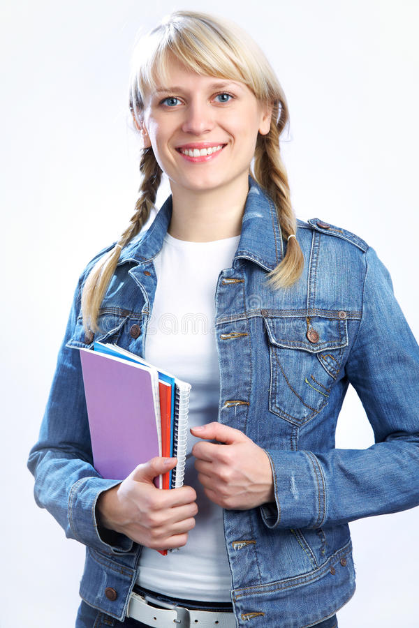 Intelligence blonde student royalty free stock photos