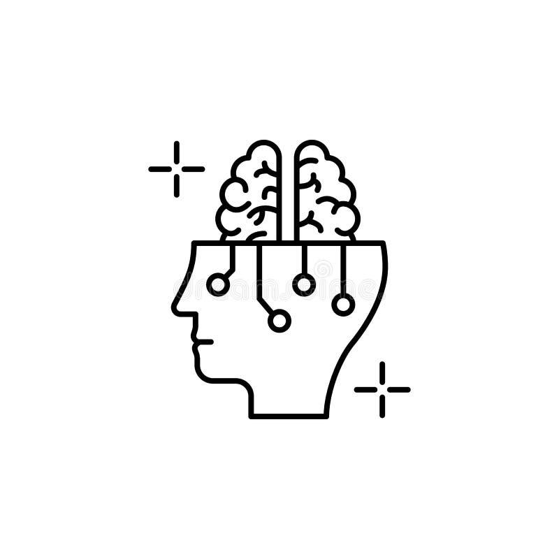 Intelligence brain icon. Element of brain concept vector illustration