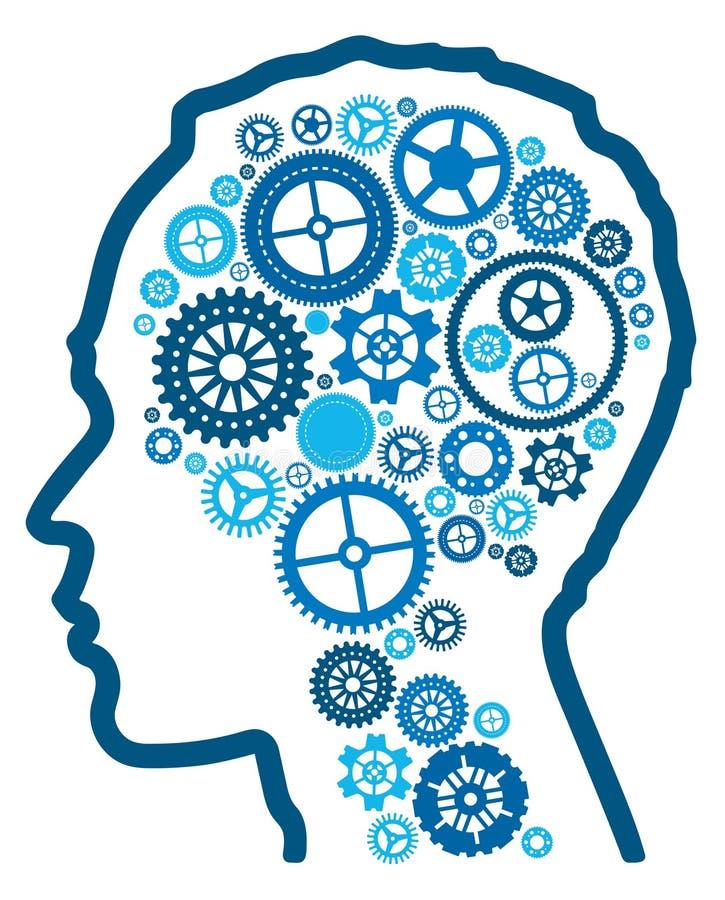 Intelligence cognitive abstraite. illustration stock