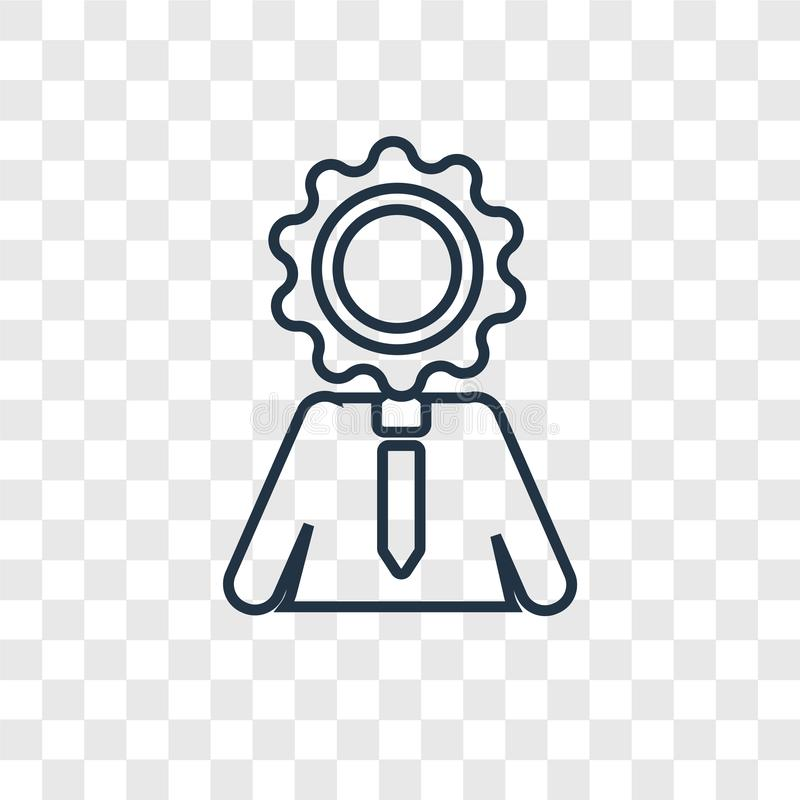 Intelligence concept vector linear icon isolated on transparent stock illustration