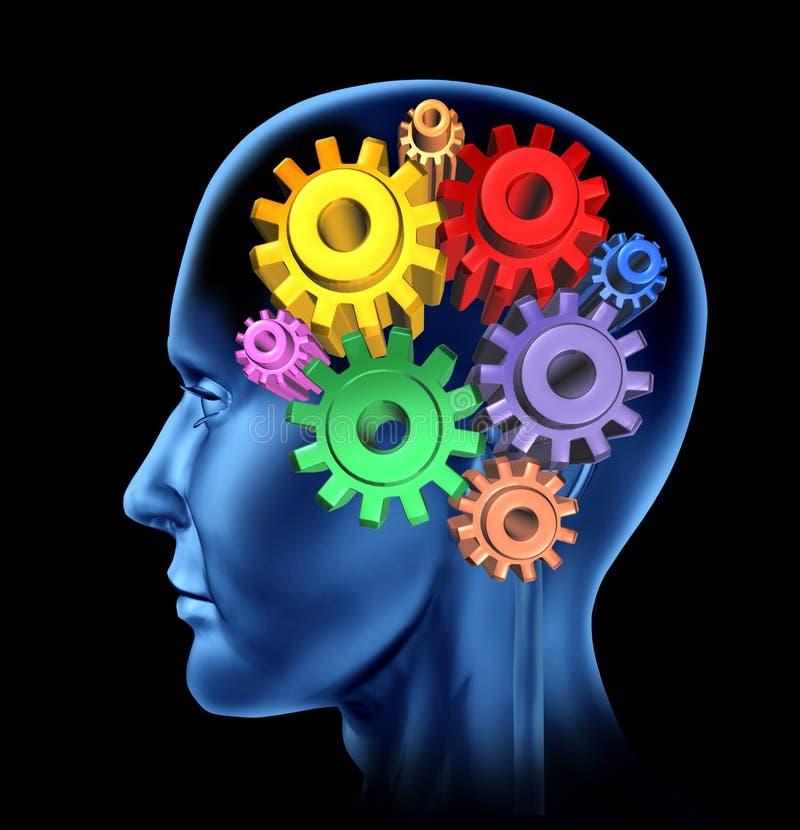 Intelligence d'activité de cerveau illustration de vecteur