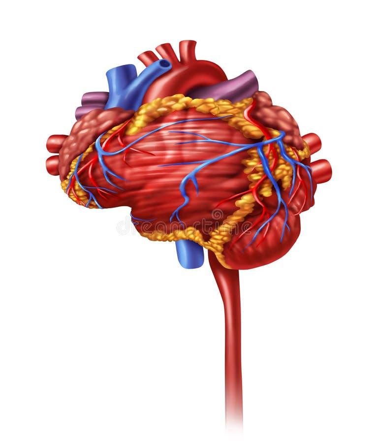 Intelligence de coeur illustration de vecteur