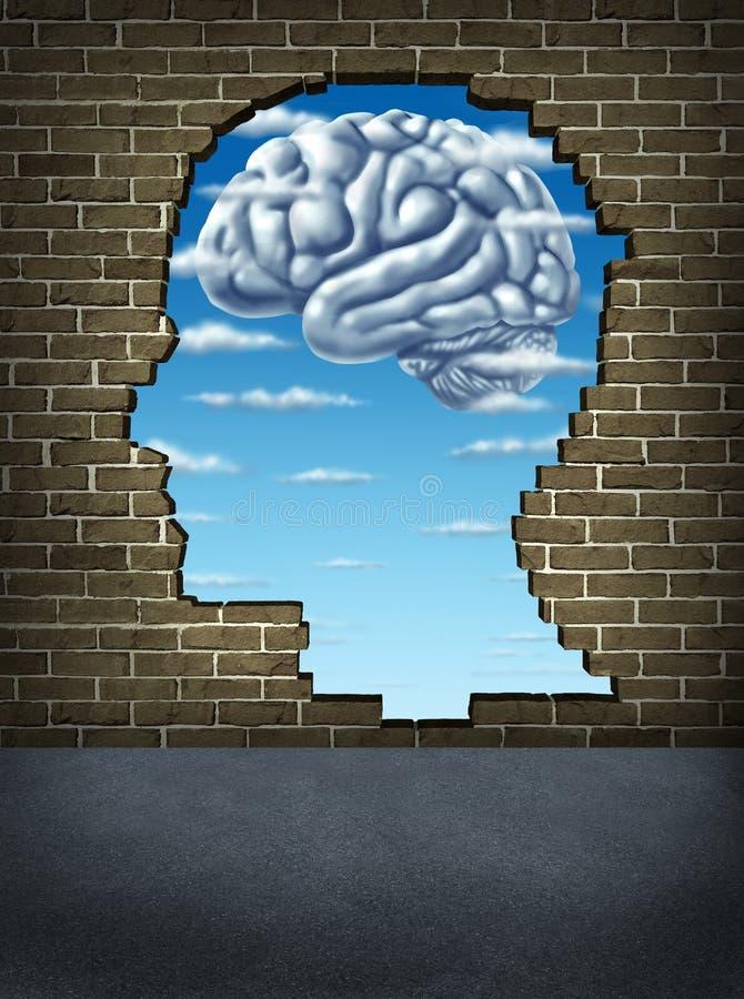 Intelligence humaine de compréhension illustration de vecteur