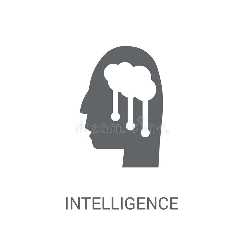Intelligence icon. Trendy Intelligence logo concept on white background from Artificial Intelligence collection royalty free illustration