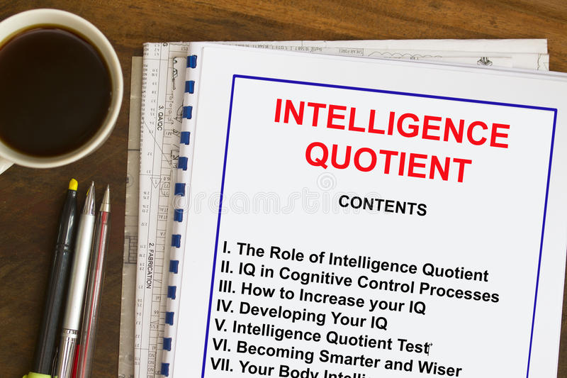 Intelligence Quotient concept stock photography