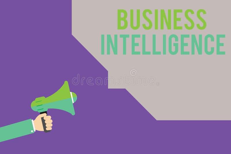 Intelligens för affär för textteckenvisning Mest bra övning för begreppsmässigt foto av information att optimera Perforanalysisce royaltyfri illustrationer