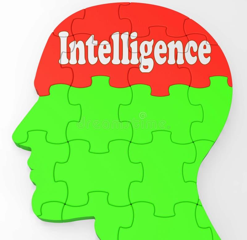 Intelligenshjärnan visar kunskapsinformation och utbildning stock illustrationer