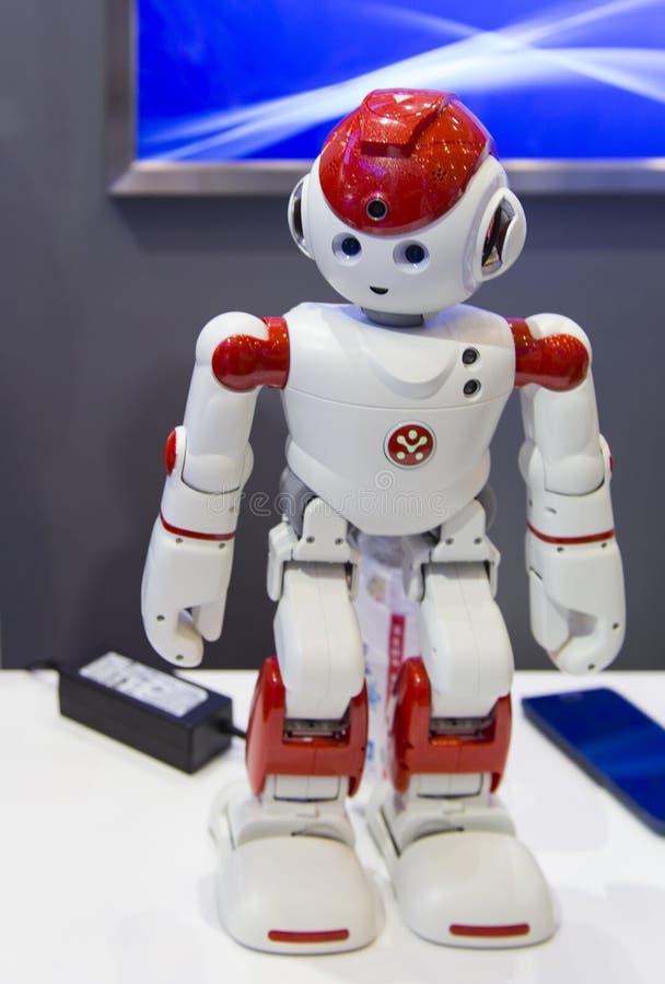Intelligensrobot i Chengdu innovation 2016 och egenföretagandemässa royaltyfri bild