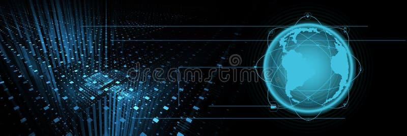 Intelligensteknologibakgrund arkivbild