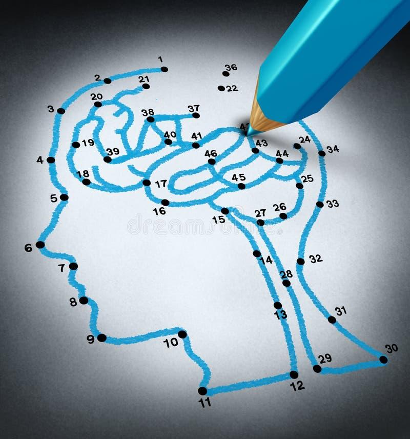 Intelligensterapi vektor illustrationer