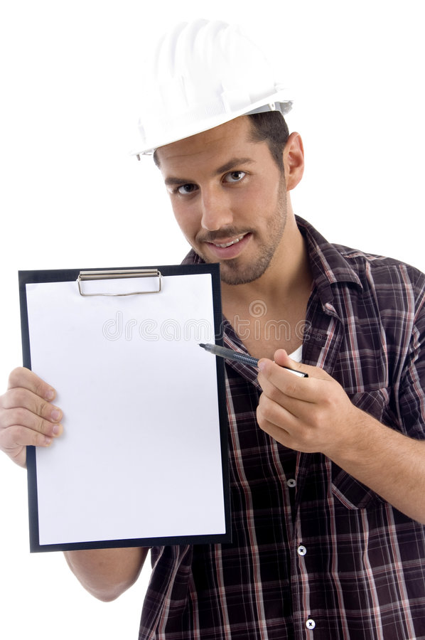 Download Intelligent Architect With Note Pad Stock Photo - Image: 6986200