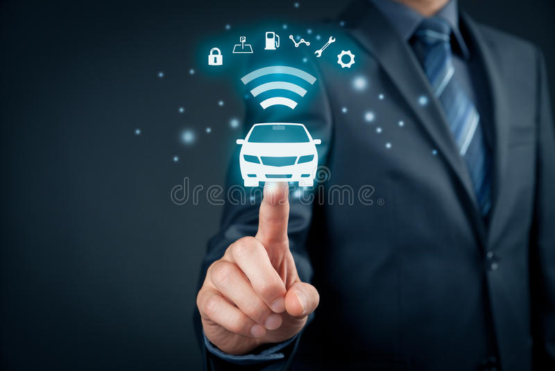 Intelligent car royalty free stock photo