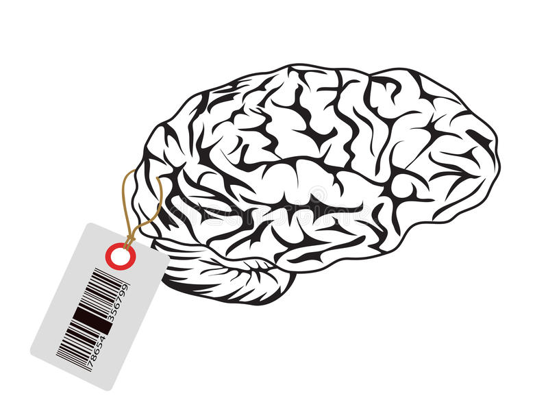 Intelligent für Verkauf lizenzfreie abbildung