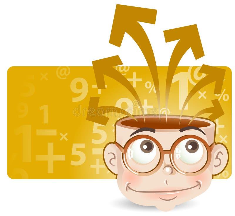 Intelligent kid vector illustration