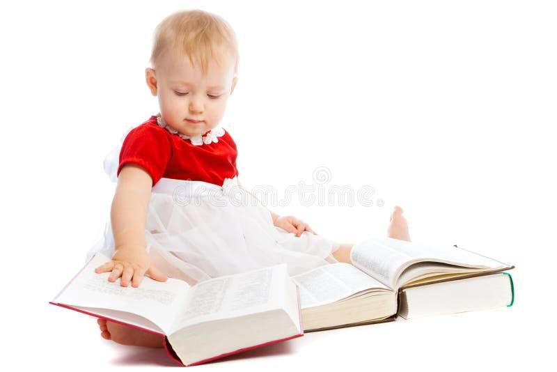 intelligent litet barn arkivfoto