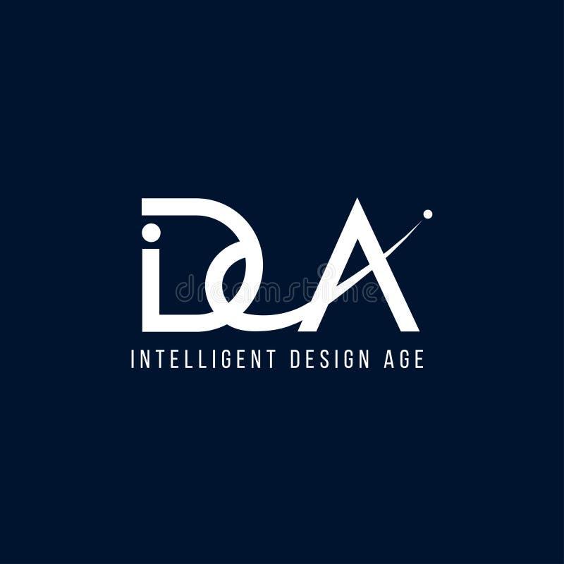 Intelligent ontwerp vectorembleem Intelligent ontwerp vectorpictogram stock illustratie