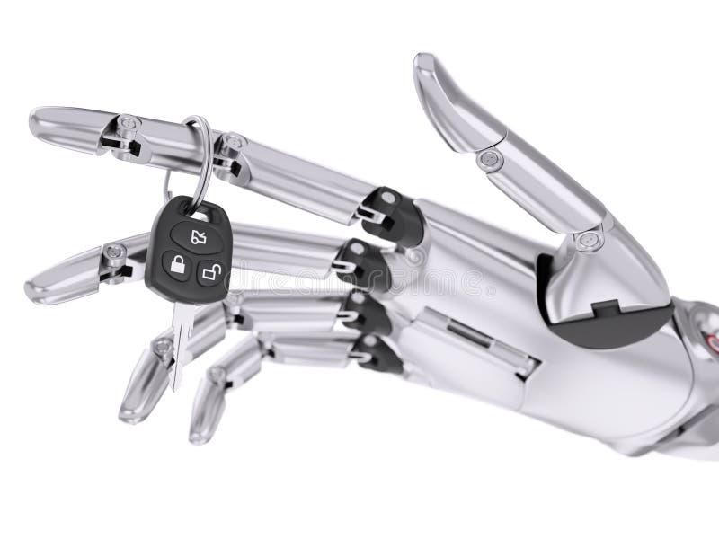 Intelligent Robotic Driver Assist System 3d Illustration Concept. Intelligent Automated Driver Assist System 3d Illustration Concept royalty free illustration
