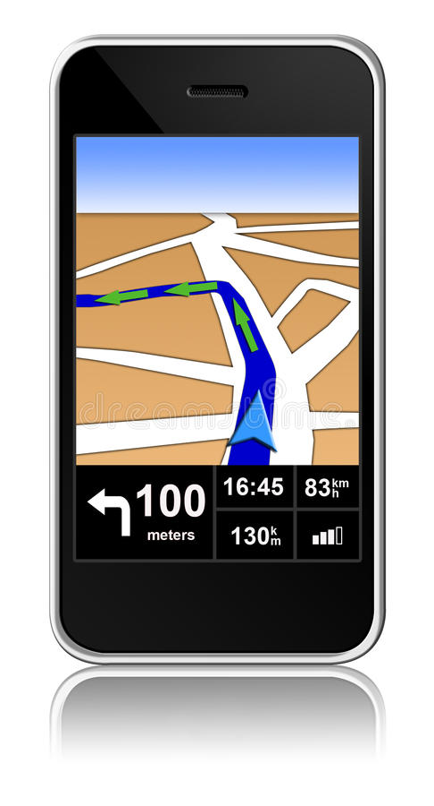 Intelligent-Telefon mit gps-Nautiker nach innen vektor abbildung