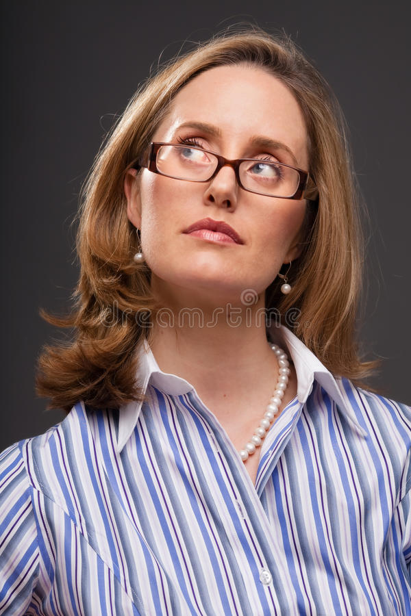Download Intelligent woman stock photo. Image of image, head, business - 12341702