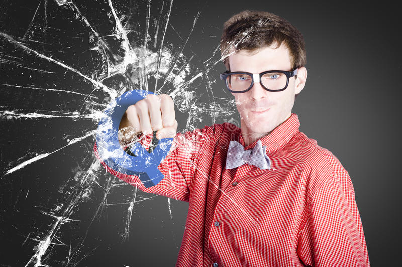Intelligent Young Man With Good Idea Stock Photography