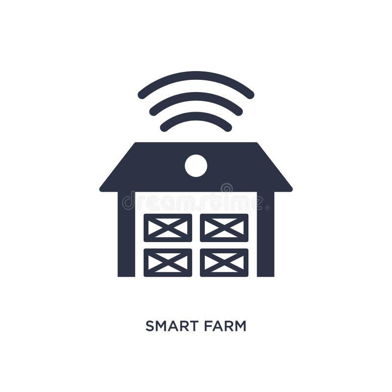 intelligente Bauernhofikone auf weißem Hintergrund Einfache Elementillustration von Landwirtschaftsund Gartenarbeitkonzept der La vektor abbildung