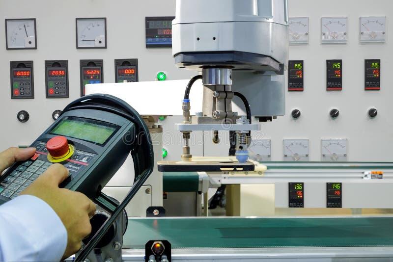 Intelligente Fabrik auf Industrie 4 0 Technologie stockbilder
