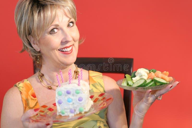 Intelligente gesunde Essenwahl lizenzfreies stockfoto