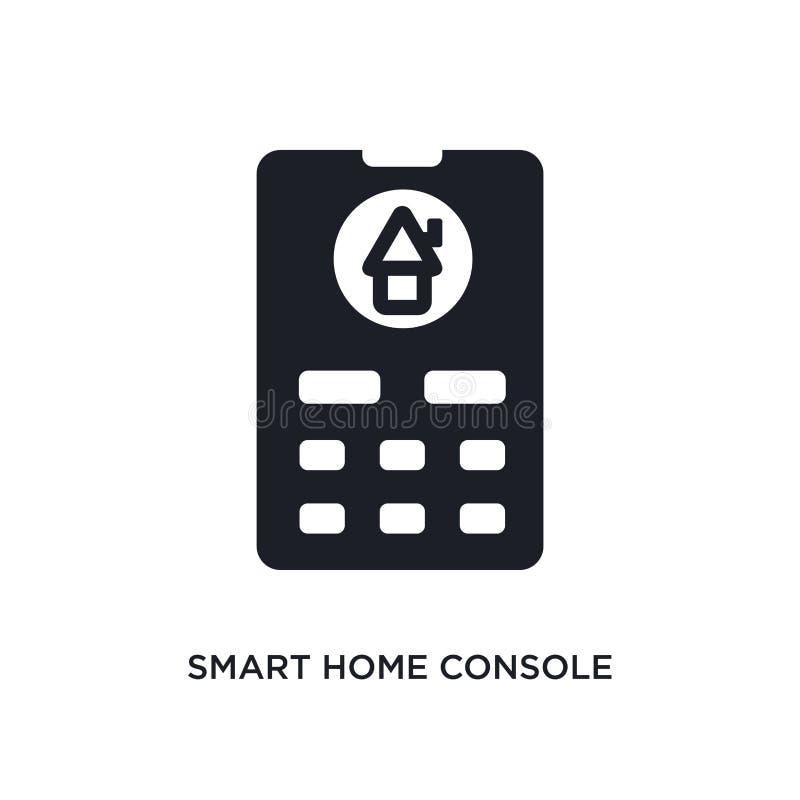 intelligente Hauptkonsole lokalisierte Ikone einfache Elementillustration von den intelligenten Hauptkonzeptikonen editable Logoz lizenzfreie abbildung