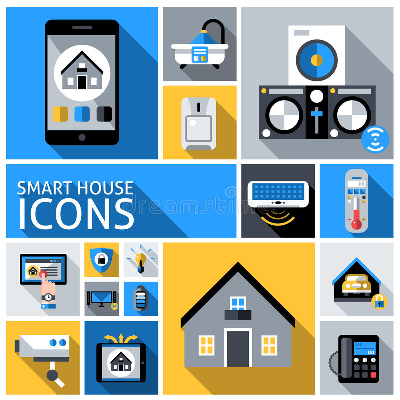 Intelligente Haus-Ikonen vektor abbildung