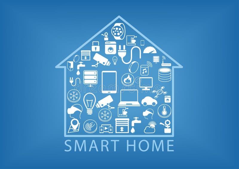 Intelligente Hausautomation als Illustration stock abbildung
