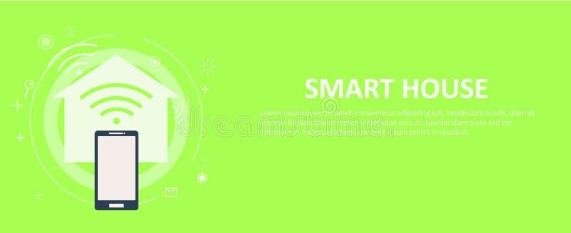 Download Intelligente Hausfahne vektor abbildung. Illustration von kamera - 96934487