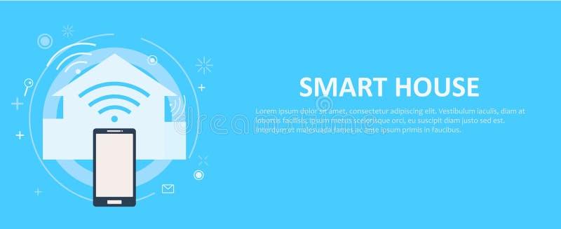 Download Intelligente Hausfahne vektor abbildung. Illustration von abbildung - 96934488